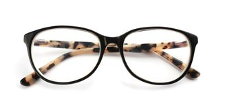 Glasses with corrective lenses. On white background. Vision problem royalty free stock photos