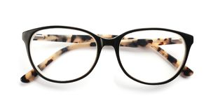 Glasses with corrective lenses. On white background. Vision problem royalty free stock images