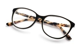Glasses with corrective lenses. On white background. Vision problem stock image
