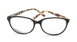 Glasses with corrective lenses. On white background. Vision problem royalty free stock photography