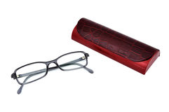 Glasses and cover Stock Images
