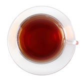 Glasses cup with black tea Royalty Free Stock Photography