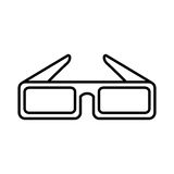 Glasses 3d cinema icon Royalty Free Stock Photo