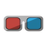 Glasses 3d movie cinema design shadow. Vector illustration eps 10 Royalty Free Stock Photos