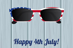 Glasses design of the American flag. National holiday in America Independence Day. Vector illustration Stock Images