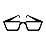 glasses design. Glasses icon. Fashion style accessory and eyesight theme.  design. Vector illustration Stock Photos