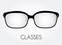 Glasses design. Over white background, vector illustration Stock Image