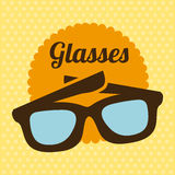 Glasses design. Over yellow background, vector illustration Stock Photos