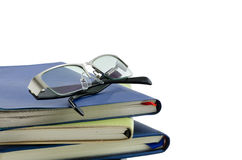 Glasses and diary Stock Photography