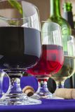 Glasses of diferent wines Royalty Free Stock Photo