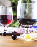 Glasses of diferent wines Royalty Free Stock Image