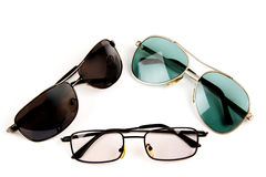Glasses of different designs. Stock Image