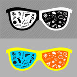 Glasses with different lenses. Royalty Free Stock Image