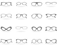 Glasses in different styles vector illustration
