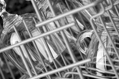 Glasses in the dishwasher. Stock Photos