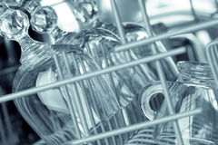 Glasses in the dishwasher. Stock Photo