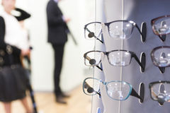 Glasses on display Royalty Free Stock Photos