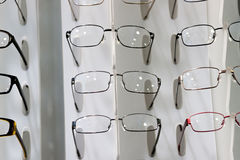 Glasses on display Royalty Free Stock Images