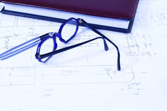Glasses and Documents Royalty Free Stock Photos