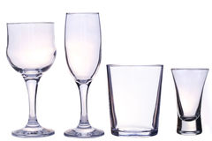Glasses for drinks. Isolated on white Stock Image