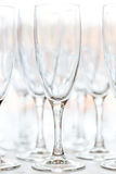 Glasses for drinks and cocktails at the festive table. Stock Photography