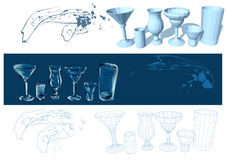 Glasses and drinks Royalty Free Stock Photos