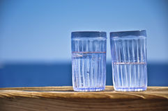 Glasses with drinks  Royalty Free Stock Photo