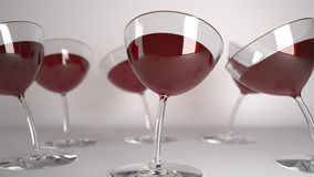 Glasses drunk with red wine Stock Image