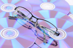 Glasses and DVD Stock Images