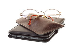 Glasses eBook reader isolated on white Royalty Free Stock Image