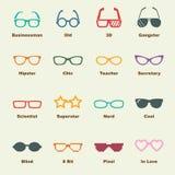 Glasses elements Royalty Free Stock Image
