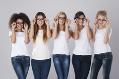 Glasses for everyone Royalty Free Stock Photo
