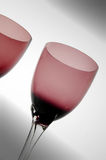 Glasses for exclusive drink #10. Empty red glasses for exclusive drink royalty free stock photo