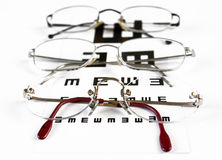 Glasses & Eye Chart Royalty Free Stock Images
