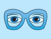 Glasses Eyes Blue Stock Photos
