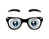 Glasses with eyes icon Stock Photos