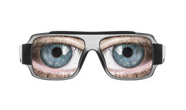 Glasses with the eyes. royalty free stock images