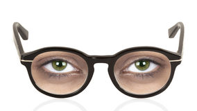 Glasses and eyes Stock Photography