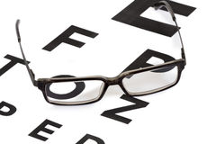 Glasses and eyesight test Stock Images
