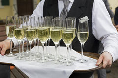 Glasses filled with champagne Royalty Free Stock Photography