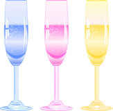 Glasses of fizzy drink Royalty Free Stock Images