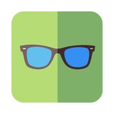 Glasses in flat design. Cool glasses in flat design. Vector illustration Stock Photography