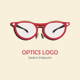 Glasses flat icon. Royalty Free Stock Photography