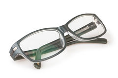 Glasses folded. On white background royalty free stock photography