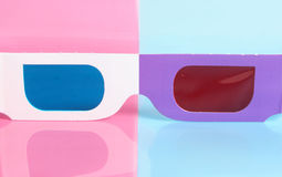 Glasses For The Volumetric Image Stock Photography