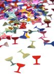 Glasses in the form of confetti Royalty Free Stock Photography
