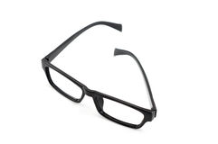 Glasses frame. Black eyeglasses  on white background (glasses frame Royalty Free Stock Images