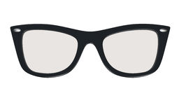 Glasses frame. Black glasses frame isolated on white. Clipping path included for easy selection Stock Photos