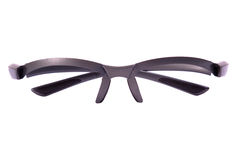 Glasses frame. Front view. Glasess. Frame. Isoaleted on white stock images