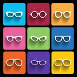 Glasses frame icons. Vector illustration. royalty free illustration
